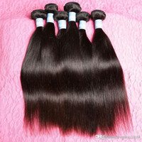 Unprocessed Indian Virgin Hair 4pcs Lot Qingdao Hot Hair Products Indian Remy Straight Hair 8inch à 30inch Livraison gratuite 3,4,5pcs / lot