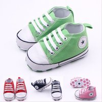 Wholesale Hot Pink Infant Shoes - Baby Infant Toddler Boys Girls Soft Non-slip Sneakers Trainers Shoes from Newborn to 18 Month New Hot