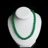 Green Necklace AAA 100% Natural Jade High Quality Wide 10mm Longitud 45cm Necklace for Women Melhor presente de Natal