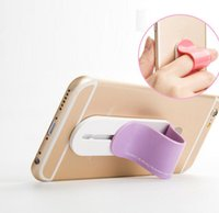 Wholesale Fix Cell Phones - Cell Phone Holder for iphone 6 7 Universal Colorful U-shaped Grip Finger Ring holder multi - functional back paste fixed bracket