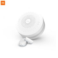 Atacado- 2 em 1 Original Xiaomi Smart Home Multifuncional Gateway Alarm + Intelligent Door / janela Sensor Suite para Smart Home Security