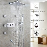 Wholesale Waterfall Bath Taps Wall Mounted - Waterfall Bathroom Shower Faucet Set Chrome Shower Head Bathroom Products Accessories Wall Mounted Bath & Shower Water Mixer Tap
