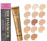 Wholesale Make Up Free Shipping Dhl - 1pc DERMACOL basic make-up, makeup 30g, skin concealer, 14 colors, DHL free shipping + gifts