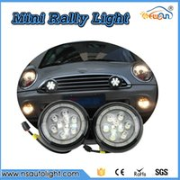Wholesale Light Led Car Position - Daytime Running Light Fog Lights For MINI Cooper MINI Cars 12V White Chrome Shell LED Rally Driving position Lights Car Styling
