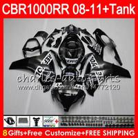 Wholesale Repsol Cbr - Bodywork For HONDA CBR 1000RR CBR1000 RR 08-11 CBR1000RR 08 09 10 11 Repsol black 69HM17 CBR 1000 RR 2008 2009 2010 2011 Fairing kit 8Gifts