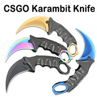Wholesale Game Counters - 4 Styles CSGO Cs Go Counter Doppler Strike Hawkbill Tactical Claw Karambit Game Knife Real Tool Combat Outdoor Gear B85L