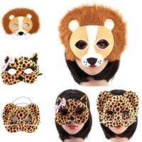 fuentes del partido de la panda al por mayor-Al por mayor-1 PC Halloween Party Animal Máscaras Cosplay Masque Traje Accesorio Panda Fox León Leopard Wolf Event Party Supplies