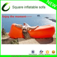 Wholesale Colorful Bean Bags - Wholesale- 2017 High quality inflatable sleeping bag colorful laybag air sofa couch bean bag for outdoor traveling camping beach sunbed