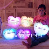Wholesale Gift Pillow Speaker - Wholesale-New! Colorful dream light music pillow, built-in Speaker mobile phone music pillow, Christmas gift, I lover's gift