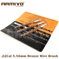 Wholesale Thread Cleaning Tool - Armiyo .22Cal 5.56mm Hunting Rifle Gun Bronze Wire Cleaning Brush Barrel Cleaner Tool Airsoft Screw Thread Size M4*7mm