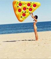 ingrosso divertente tubo-Moda New Swim Divertimento Sedile galleggiante gonfiabile Pizza Fetta galleggiante Lettino da spiaggia gonfiabile Divertente Galleggiante Piscina Tubi d'aria Giocattolo d'acqua