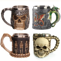 Wholesale Wholesale Funny Christmas Presents - Wholesale -New personalized cup Halloween cups skull shape cups Christmas gifts Funny cups Halloween presents A0606