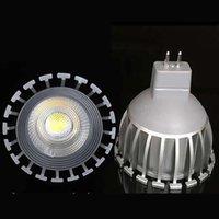 parlak spot ışık ampulleri toptan satış-Süper Parlak GU 10 Ampuller Işık Dim Led SıcakBeyaz 3000 k 90-260 V 7 W Mr 16 12 v COB LED lamba işık led Spotlight 60 60Agle CE