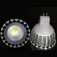 Wholesale Mr 16 12v - Super Bright GU 10 Bulbs Light Dimmable Led WarmWhite 3000k 90-260V 7W Mr 16 12v COB LED lamp light led Spotlight 60Angle CE