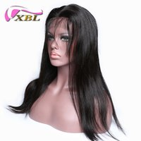 Wholesale cheap human hair wigs online - XBL Silky Straight Human Hair Wig Cheap Human Hair Wigs Brazilian Human Hair Straight Front Lace Wig
