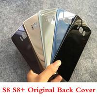 ingrosso alloggiamenti adesivi-Per Galaxy S8 S8 + Porta batteria originale Cover posteriore in vetro Custodie per cellulari con adesivo adesivo per S7 S7 S6 S6edge Note5 Cover