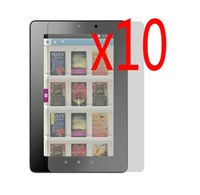 """Wholesale Screen Protector Kobo - Wholesale- 10x Films +10x Clean Cloth LCD Clear Screen Protector Films Protective Film Guards For Kobo VOX K080KBOB 7"""" E-Book eReader"""