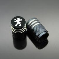 Wholesale Tire Valve Accessories - Sport Styling Auto Accessories Car Wheel Tire Valve Caps Case For Peugeot 206 208 307 308 408 508 2008 3008 5008 ect. (4Piece set)