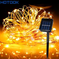Wholesale Solar Powered String Lights M M M M Copper Wire Outdoor Fairy Light for Christmas Garden Home Holiday Decorations