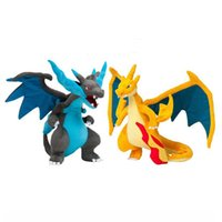 Wholesale pocket plush - 2017 Pocket Monster plush toy Charizard How to train your dragon plush toy Mega monster Yellow Blue Dragon Collection doll Toy