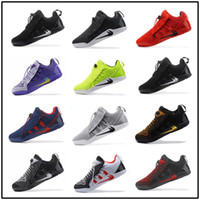 Wholesale Newest Low Cut Basketball Shoes - Newest KOBE A.D NXT 12 Wolf Grey Men's Basketball Shoes White Triple Black Dark KOBE 11 AD NXT Volt Zoom Sport Sneakers