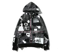 Wholesale Newspaper Letters - Supre Men's Hoodies Latest design English newspaper shading webbing men and women with aape hooded sweater hip hop kanye yeezus coat