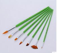 Wholesale Pen Brush Line - Free shipping Painting supplies arts tools European style nylon hair brush pen watercolor gouache   function   propylene   hook line pen