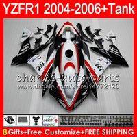 ingrosso kit yamaha r1-8Gift 23Color Body Per YAMAHA YZF R 1 YZF 1000 YZFR1 04 05 06 rosso bianco 58HM22 YZF-R1000 YZF-R1 YZF1000 YZF R1 2004 2005 2006 Kit carenatura