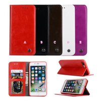 Wholesale Iphone Stylish Wallet Covers - Retro Wallet Leather Case For Iphone 7 Plus 6 6S Galaxy S8 Plus Stand Holder Money Skin Stylish Frame Photo Card Slot Pocket Flip Cover
