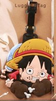 Wholesale Chopper Pvc Tony - Wholesale-Free shipping One piece Luffy Tony Chopper Pirate hat skeletons PVC luggage tag   Travel Name baggage tags