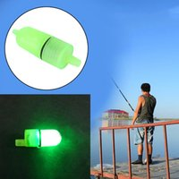 Wholesale Fishing Bait Tips - Wholesale- Fishing Bells Alarm Clip Night Fishing Rod Tip White LED Light Twin Bells Bite Ring Fish Bait Alarm New