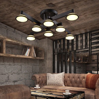 Wholesale industry energy saving - America Modern industry LED Ceiling Light Living Room Bedroom Lobby Pendant Lamp