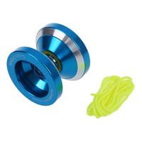 yoyo blau großhandel-Magic Yoyo N8 Aluminium Professionelles Yo Yo - Blau