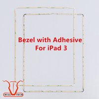 Wholesale Ipad Middle Frame - Original New Plastic Mid Frame Middle Bezel with 3M Adhesive Glue Black White For Apple iPad 3 frame bezel Replacement DHL Free Shipping