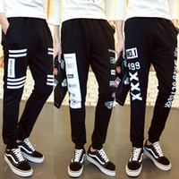 Wholesale Heart Pyrex - Fashoin HBA High Waist Sweatpants Cozy Love Heart WHITE Women Trousers M-XXL 2017 PYREX Long Pantalones Femme