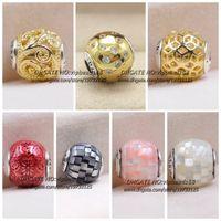 Wholesale Food Elements - S925 Sterling Silver Essence Color Charm beads For Pandora DIY Woman Jewelry Fine bracelet Necklaces Pendants 69336