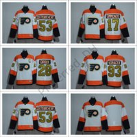 Philadelphia Flyers # 28 Giroux Stadium Series Jerseys de hockey Hommes Hockey Vive 2017 Philadelphie # 17 Simmonds # 53 Gostisbeh # 28 Giroux