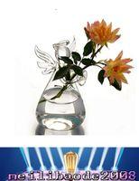 Wholesale Office Desk Free - chic Transparent Flower Plant Vase Hnadmade Glass Angel Vase Terrarium Home Office Desk Decor Decoration Gift FREE SHIPPING MYY