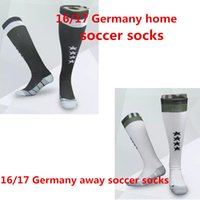 Wholesale Stocking Football Socks - Benwon - Germany 16 17 soccer socks adult sport socks men's Knee High cotton soccer stocking thai quality Thicken Towel Bottom long