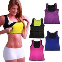 Wholesale Women Purple Vest - New Saunafit Thermal Woman Modeling Neoprene Slimming Vest Tops Body shaper 4 Colors Available