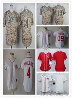 Wholesale Cheap Female Jerseys - Women Cincinnati Reds 4 Brandon Phillips 19 Joey Votto Blank Female Baseball Jerseys White Red Camo Lady Shirt Cheap Free Shipping