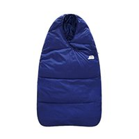 Wholesale Sleeping Bag Out - Winter baby feather cotton sleeping bag dual-use baby sleeping bag out of the newborn baby blanket car holding the waterproof thickening
