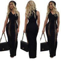 Wholesale Play Straight - Women Dress Hot Sale Sale Polyester Cute Straight Solid Sleeveless None Robe 2017 Sexy Slim Vest Sweater Dress Color Play Corns yw-038