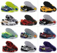 Wholesale Woman Shoes Brazil - Kobe 9 Elite Basketball Shoes New Independence Day KB 9 IX Easter Brazil All Stars Low Cut Mens Chinese Red Trainers Sneakers Size 40-46