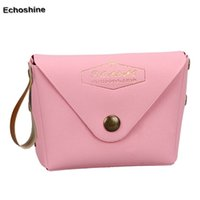 Wholesale Women Leather Pure Wallet - Wholesale- 5 Colors PVC Leather Pure Color Hasp Student Macaron Bow Serie Fashion Change Purse Morden Style women's wallets Free Shipping