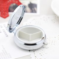 Wholesale Diy Pill Case - 100pcs Metal Pill Boxes DIY Medicine Organizer container silver EDC Pill Cases Hot selling Free Shipping