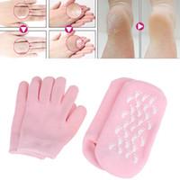 Wholesale Gel Spa Socks - Reusable SPA Gel Moisturizing Socks Gloves Whitening Exfoliating Treatment Smooth Beauty Hand Mask Feet Care Silicone Sock Glove