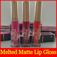 Wholesale melted lipsticks for sale - Hot Lip cosmetics Melted Matte Liquid Lipstick Faced Lip Gloss Matte Lipstick Faced Makeup Melted Lip Gloss Long Wear color