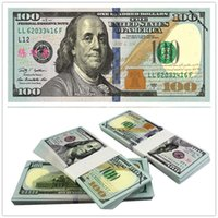 Wholesale 100PCS USA New Training Banknotes Bank Staff Learning Dollars Movie Props Money Commemorative Home Decoration Arts Crafts