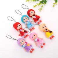 BXB211 sporty bags - 500Pcs Newest Korea Kids Baby Diomand Scarf Doll toy keychains plush ball doll For Girls Key Ring Greative bag chain